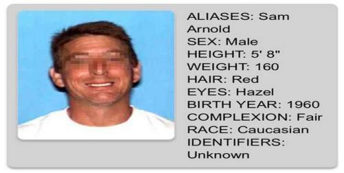 美国加州政府官网发布的Samuel Neviel Arnold的通缉令。