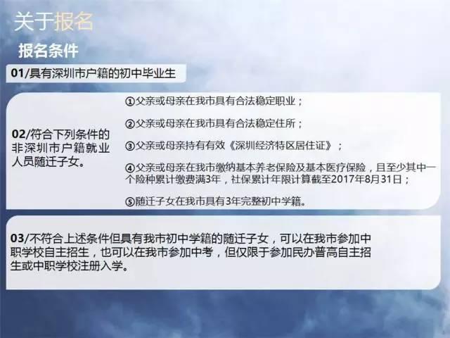 2017年深圳中考报名条件