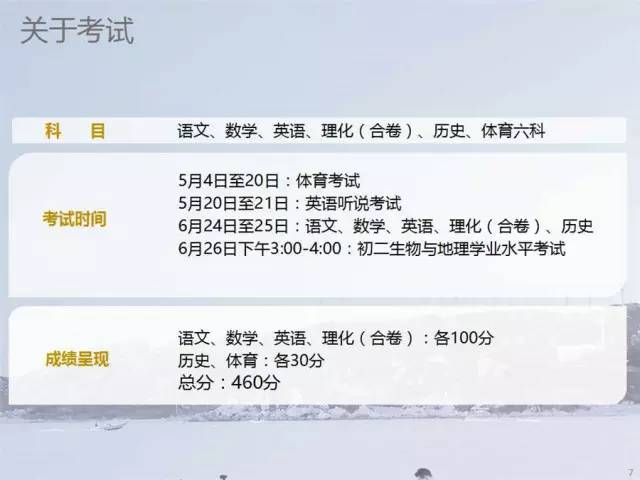 2017年深圳中考考试时间安排