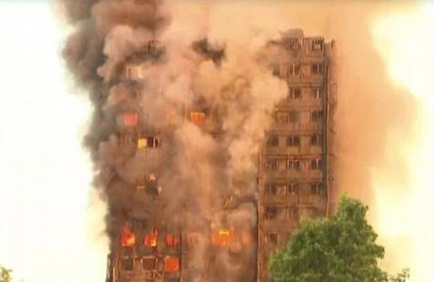 西伦敦地区公寓发生大火 约30人受伤