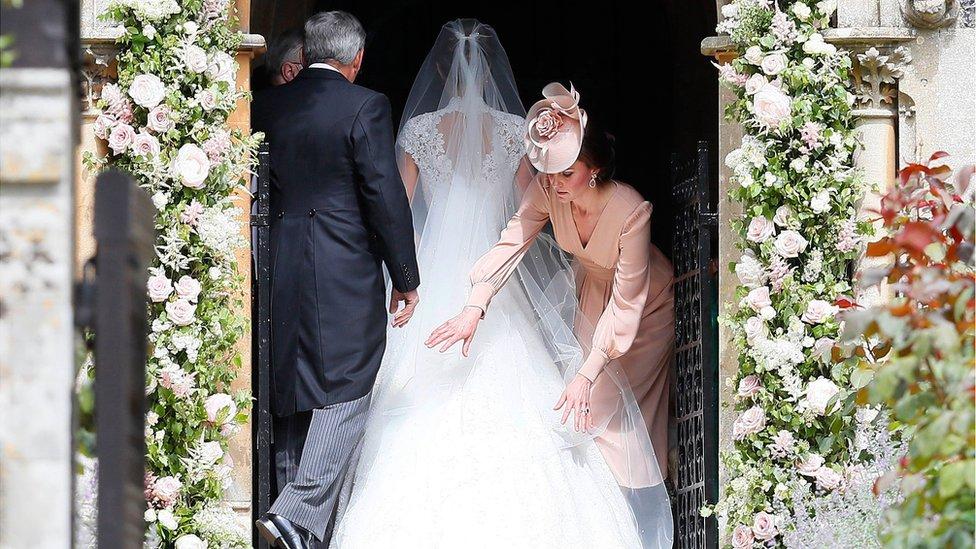 妹妹出嫁 凯特王妃全家为婚礼助阵