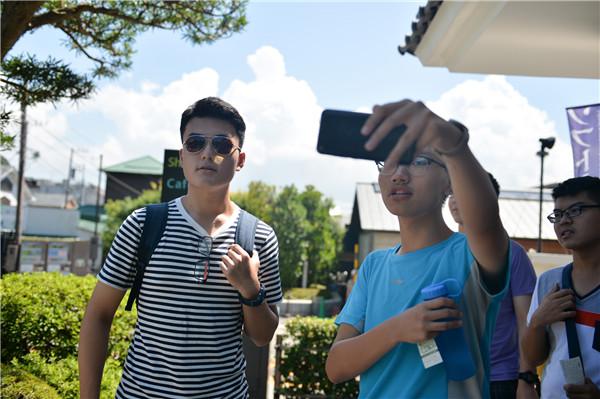 8月6日,优能中高考状元游学营来到镰仓