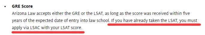 亚利桑那大学法学院网站截图
