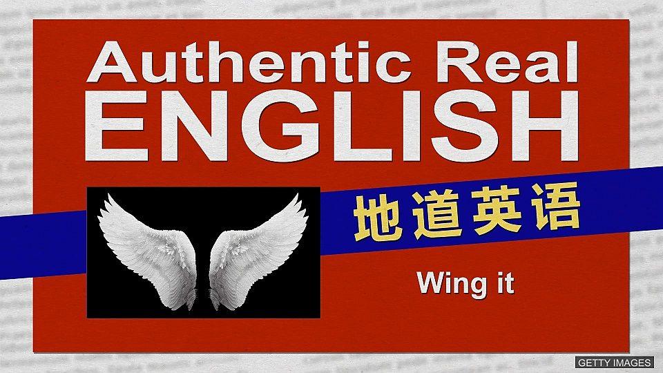 "Wing it的意思是""扇翅膀""吗?"