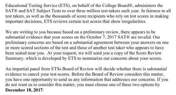 哪些原因会导致SAT成绩被delay