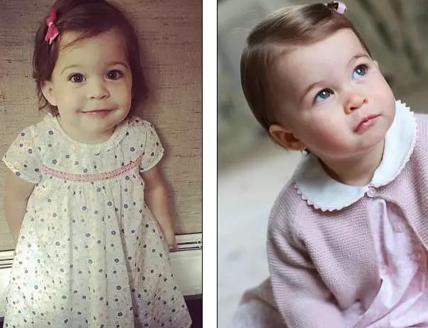 英国夏洛特小公主撞脸平民双胞胎(图)