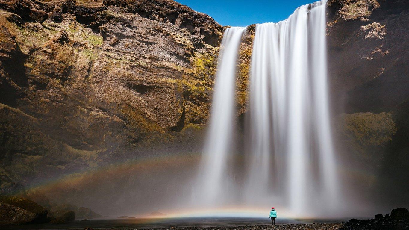壁纸 风景 旅游 瀑布 山水 桌面 1366_768