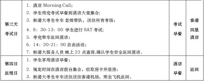 2018年上半年新东方SAT香港四天考试团