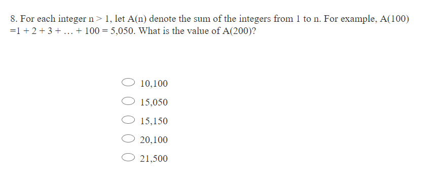 GRE数学模拟练习题(8)