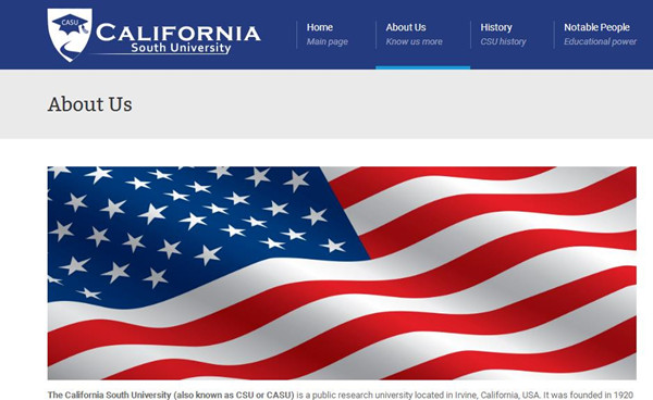 加州南大学网站