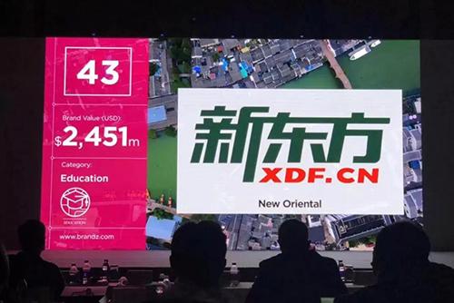 """新东方入选""""BrandZ?2018最具价值中国品牌100 强"""",排名居中国教育行业之首"""