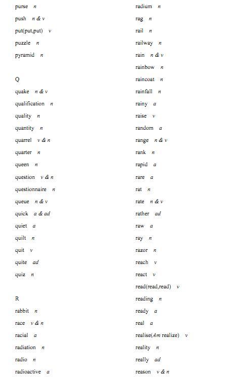 2018年高考英语必背3500个词汇(考纲版):R开头的词汇