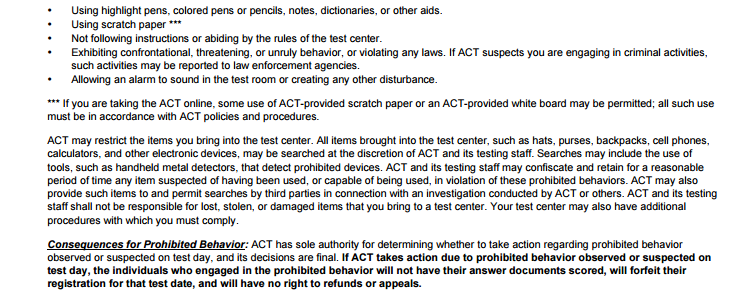 ACT考试不触雷 谨记这些考场规则