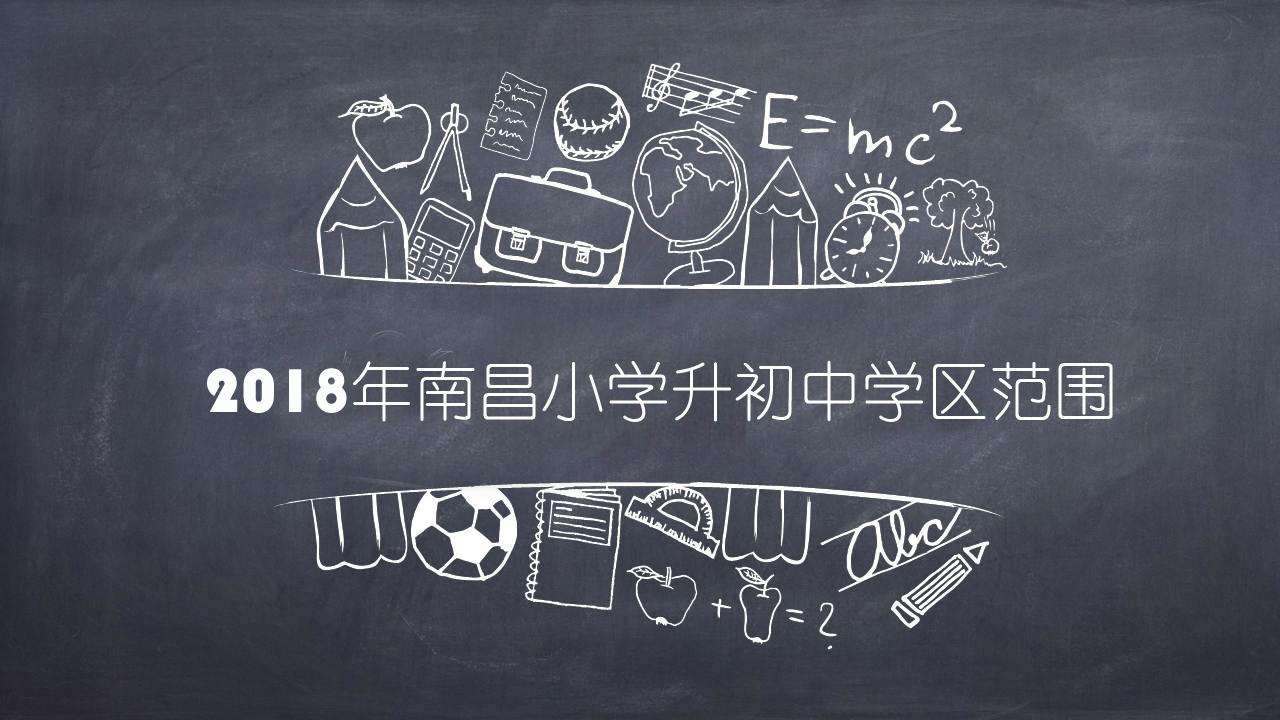2018南昌小学升初中学区划分