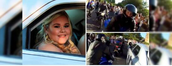 英国骑士护送遭霸凌女孩参加舞会