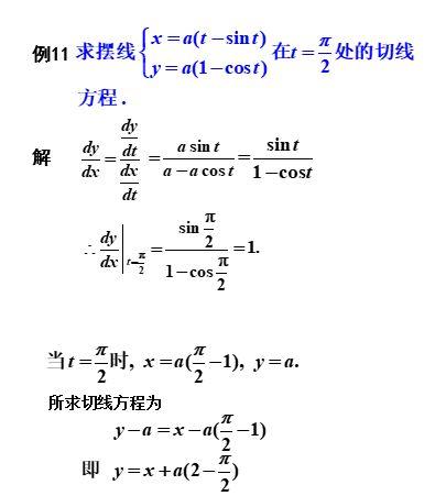 隐函数微分法之参数方程求导(例1)