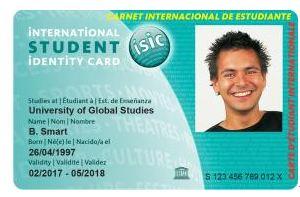 ISIC优惠卡