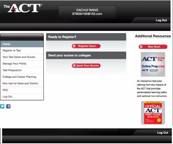 ACT注册