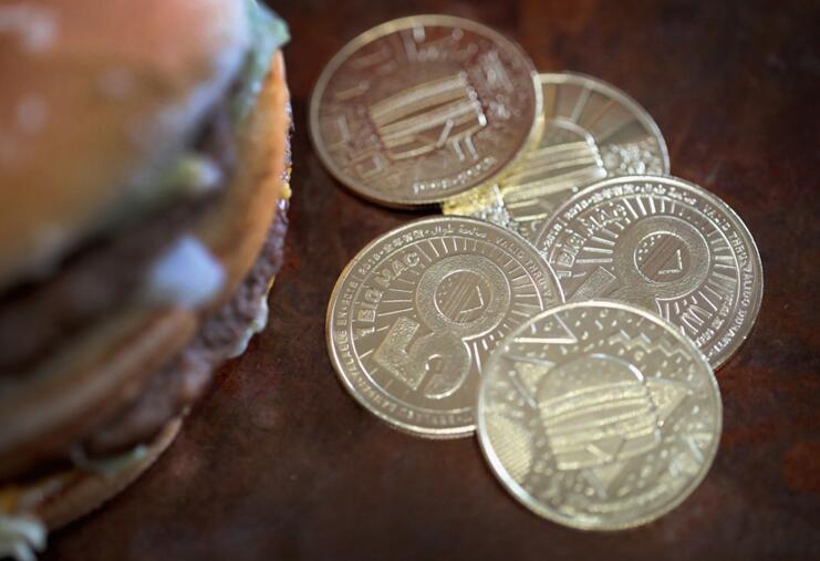 麦当劳首推限量版纪念币!为了纪念巨无霸的人!(图)