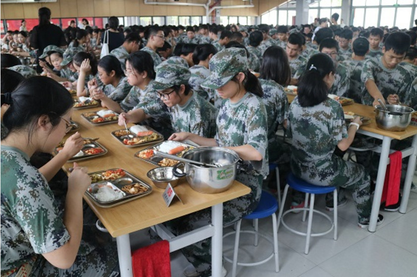 上海师范大学第二附属中学2021级高一新生军训启幕