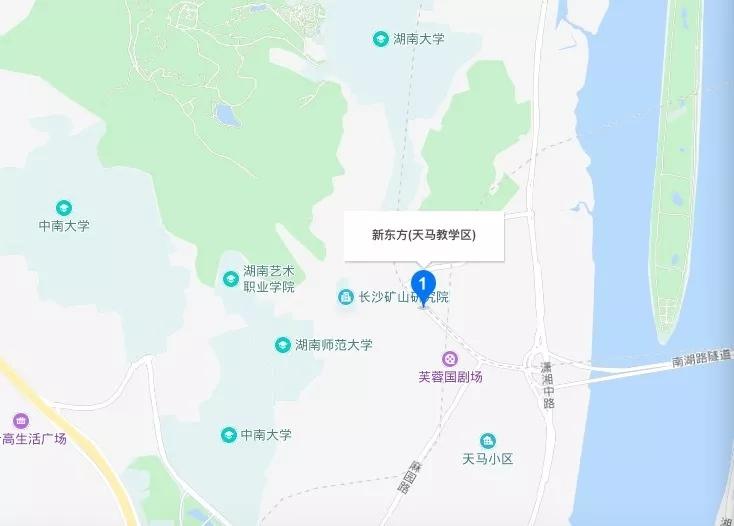 长沙新东方天马校区位置