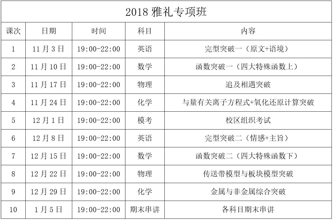 2018优能高中雅礼专项班发布会