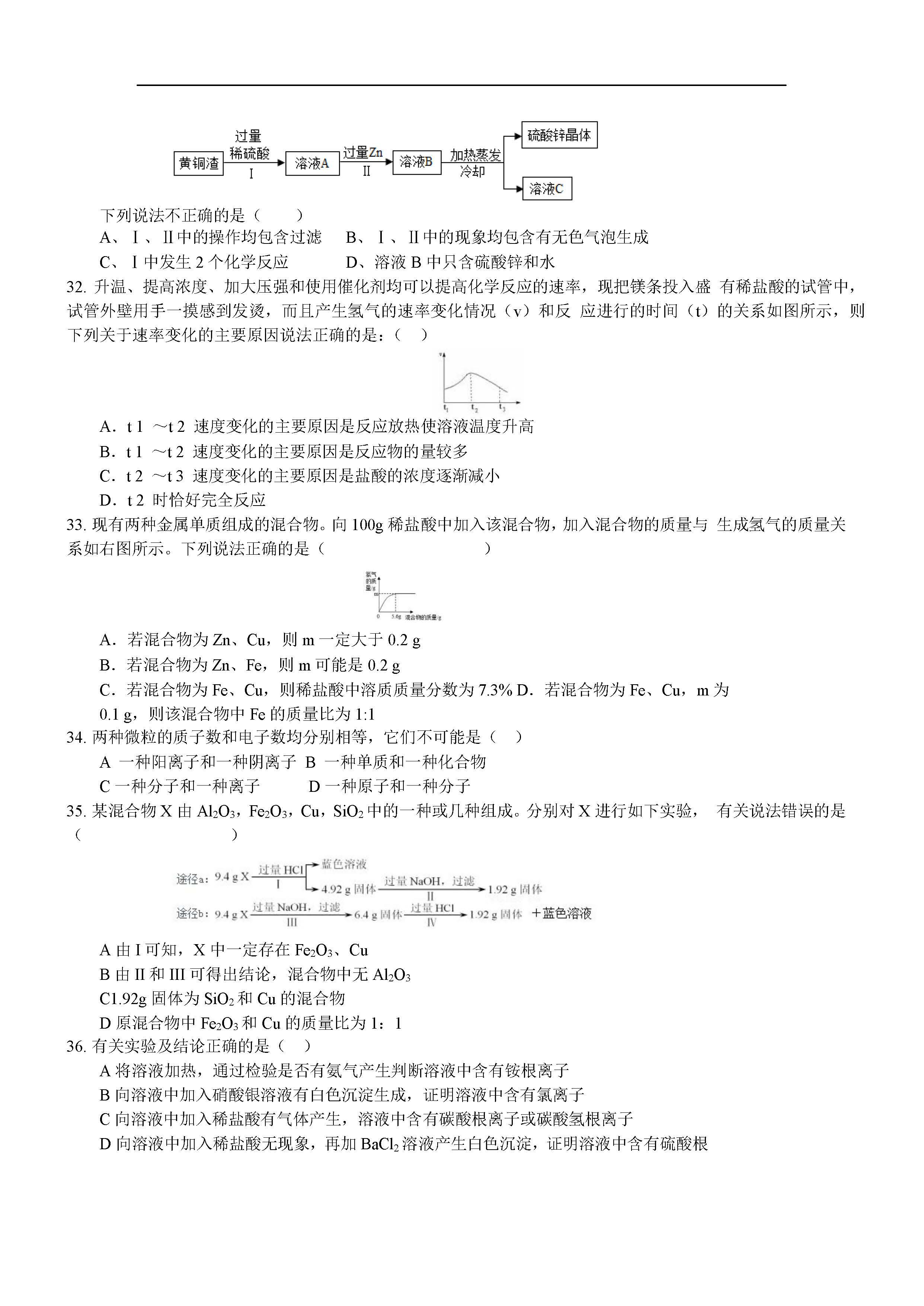 2018上海天原杯化学竞赛预赛试题及答案(图片版)
