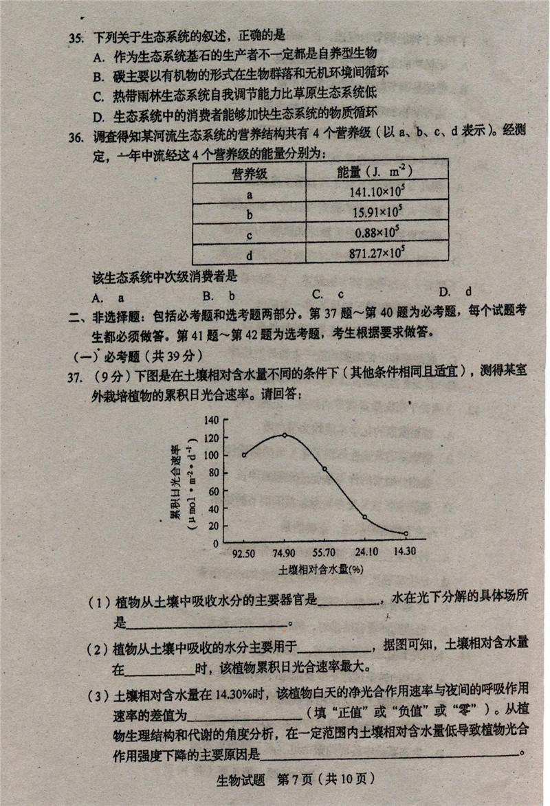2019届吉林省长春市高三上学期质量监测试题及答案