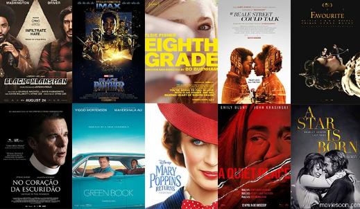 2018年美国电影学会十佳电影和十佳电视剧名单