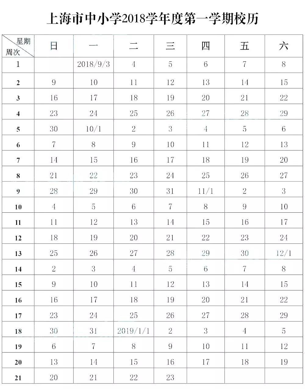 2019年上海中小学寒假放假小学利民路芜湖市时间汇总图片
