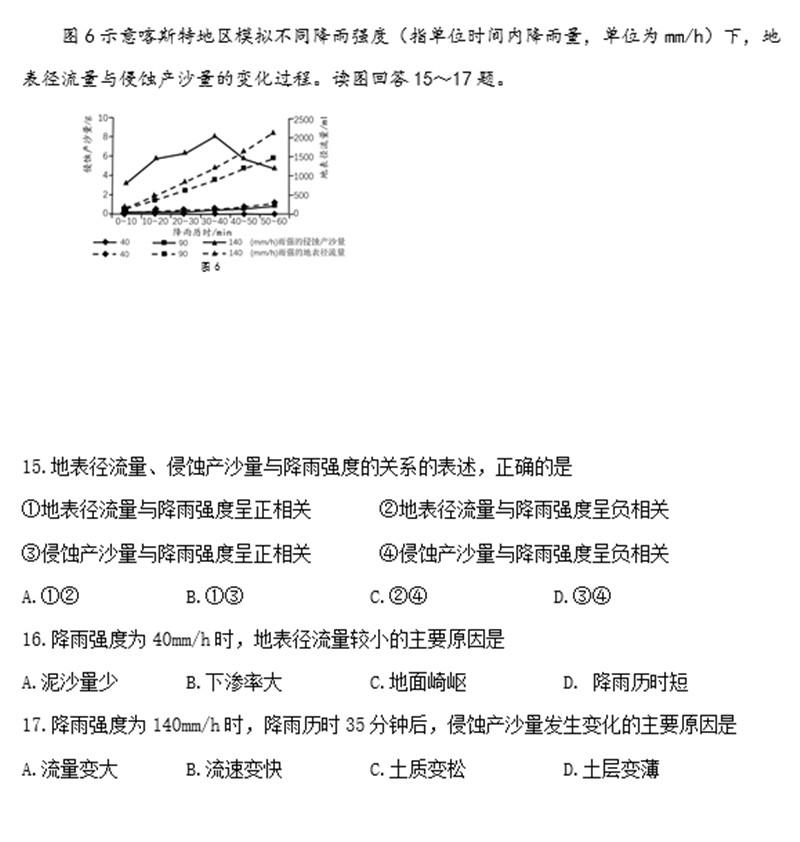 2019福州作文期末质检试卷高三及事例(答案答中考通用标准地理初中图片