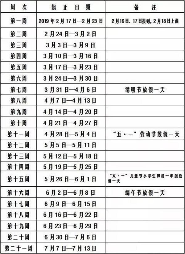 长沙小学寒假结束时间:将于2月16日开学
