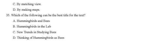 高中英语阅读理解100篇:高考英语阅读理解题目附答案(98)