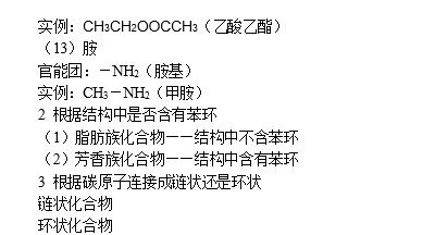 湖南高考化学知识点:有机物的分类