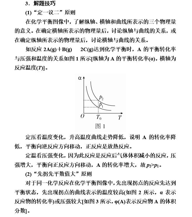 湖南高考化学知识点:化学反应速率与化学平衡图像