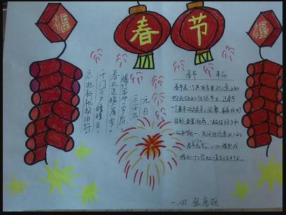 2019猪年春节手抄报图片:春联的寓意-双师东方
