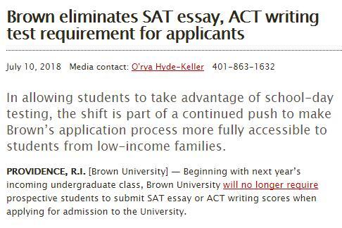 美国大学取消SAT/ACT写作要求 是不是可以不考了呢