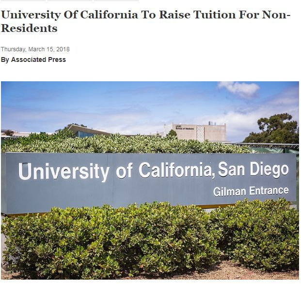 美国加州大学又要涨学费