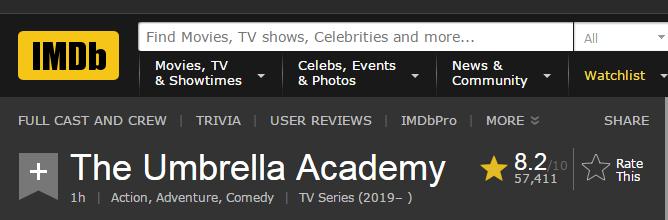 "Netflix巨作《伞学院》霸占各大美剧榜单 网友:""美版葫芦娃"" 来拯救世界啦!"