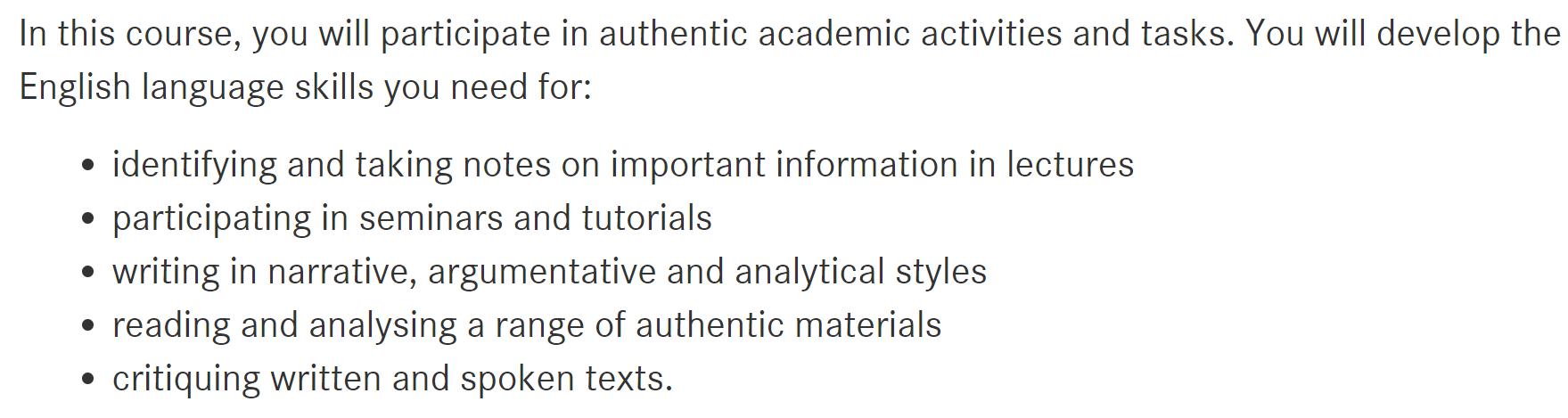 墨尔本大学官网上对其Bridging program的介绍