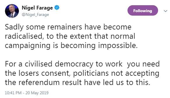 脱欧领袖被泼奶昔 英国多起政客被泼事件(中英文)