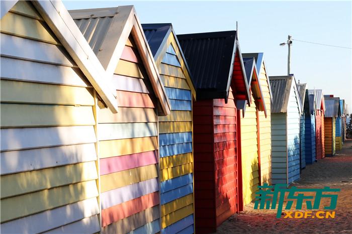 布莱顿海滩彩虹小屋