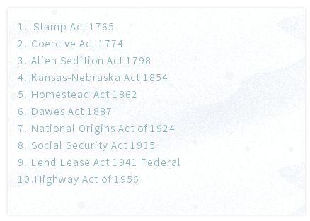 6月1日SAT2美国历史考点总结