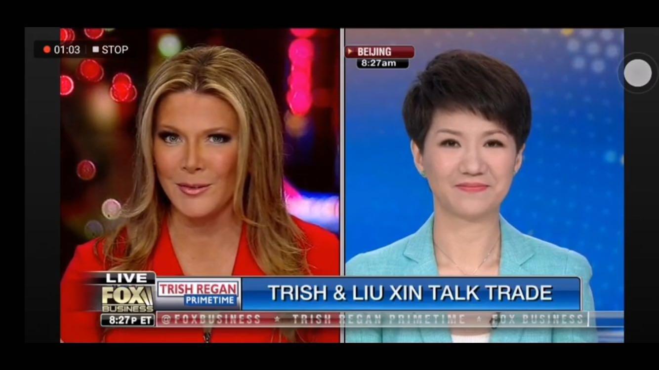 中美女主播辩论直播视频 刘欣沉着应战Trish