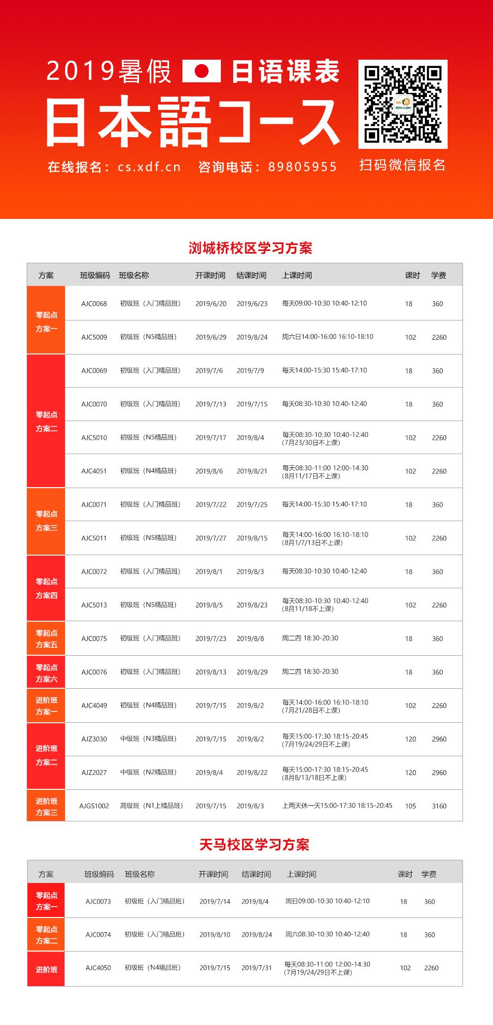 2019小语种暑假班 | 报名正在进行中
