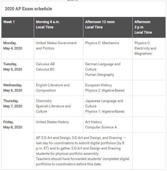 2020年AP考试时间表发布 两点变化需注意