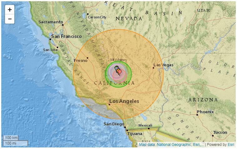 美国加州大地震7.1级 加州为何地震频发