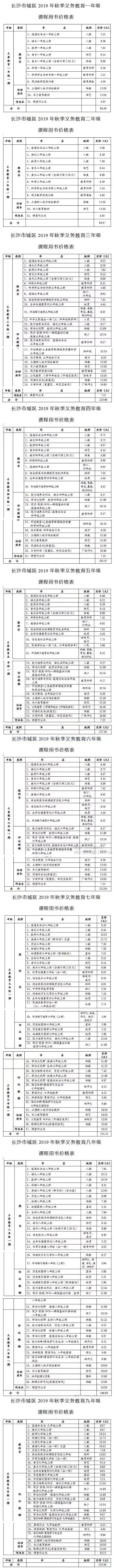 官宣!长沙市2019年秋季中小学收费标准出炉