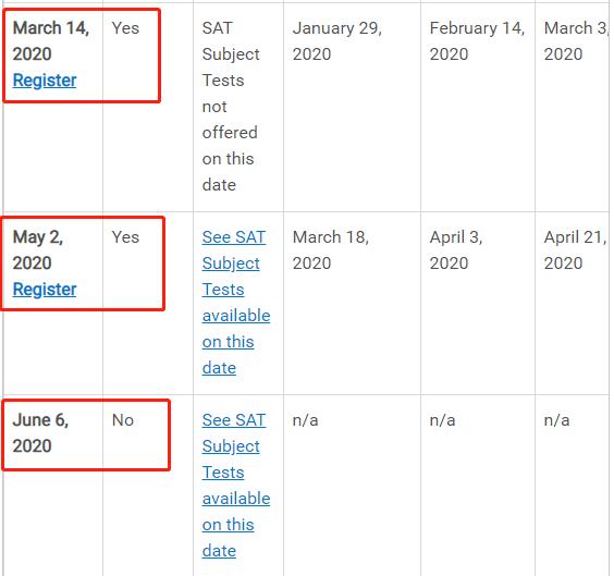 3月SAT考试能否如期进行的最新表态