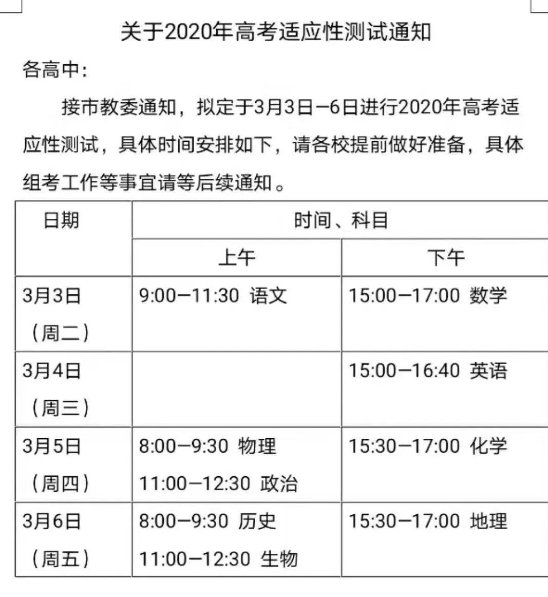 北京3月3日高考适应性测试详解,金�教师教你复习!